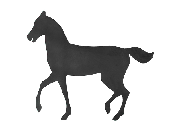 Plasma cut cutting horse