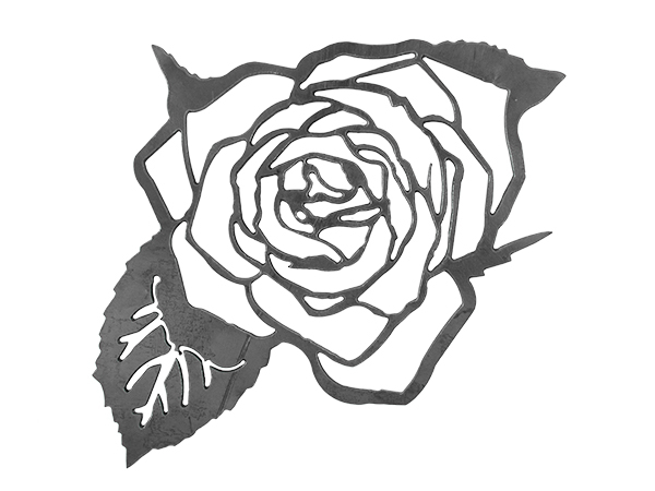Plasma cut of a rose