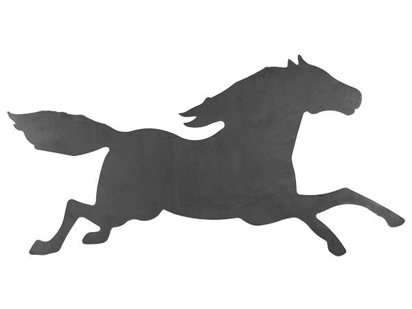 Plasma cut sign of a horse running