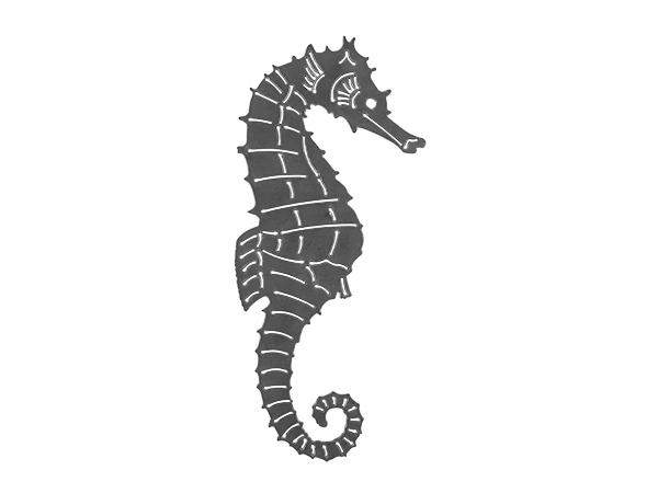 Plasma cut sign of a seahorse