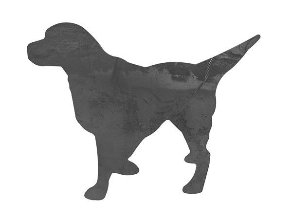 Plasma cut dog cutout