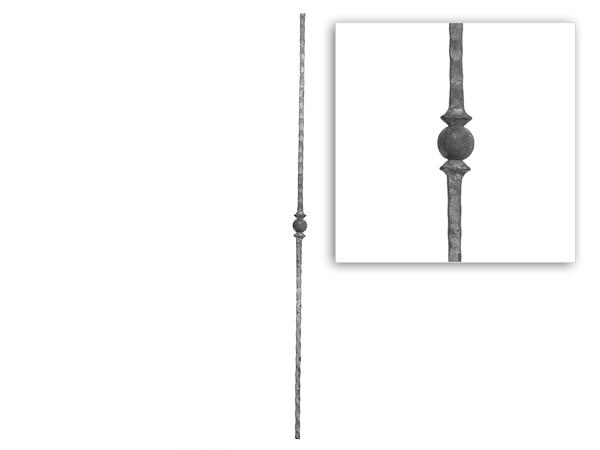 Baluster paramount hammered one knob