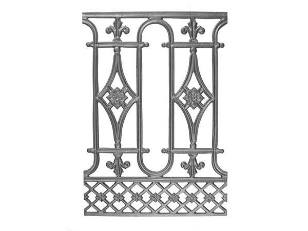 Cast iron, 24 x 17 railing casting.
