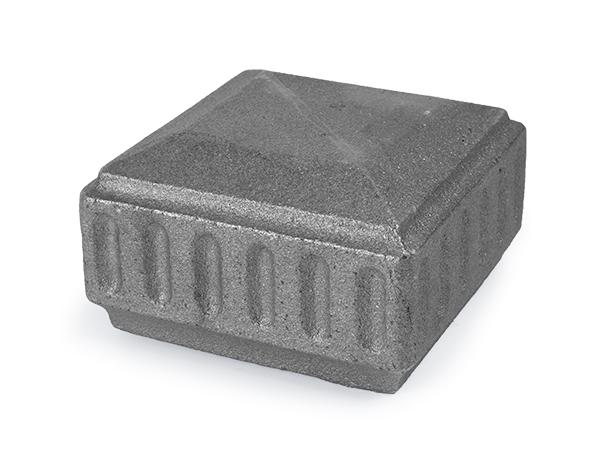 Cast iron 4-inch newel post cap