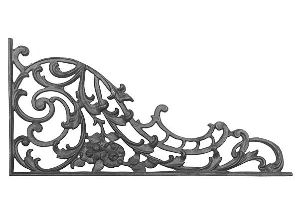 Cast iron, b.o.p. corner casting with flange