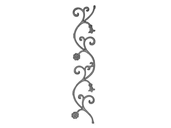 Cast iron bellflower panel