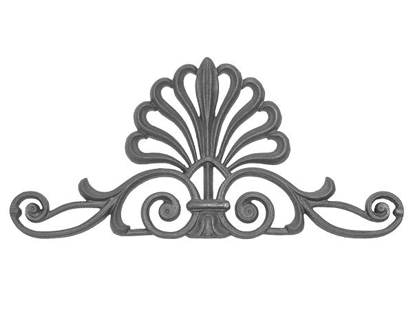 Cast iron elegant Doric gate top