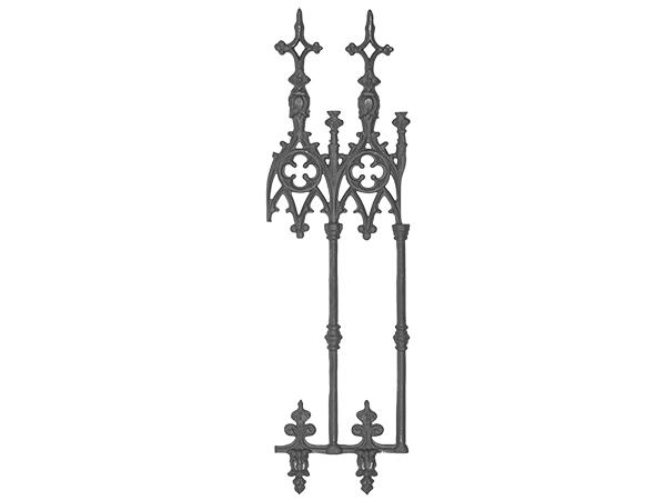Cast iron European renaissance panel
