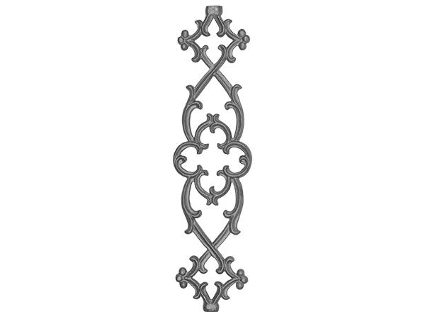 Cast iron gothic railing panel