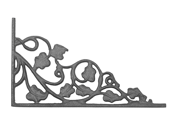 Cast iron ivy leaf corner casting