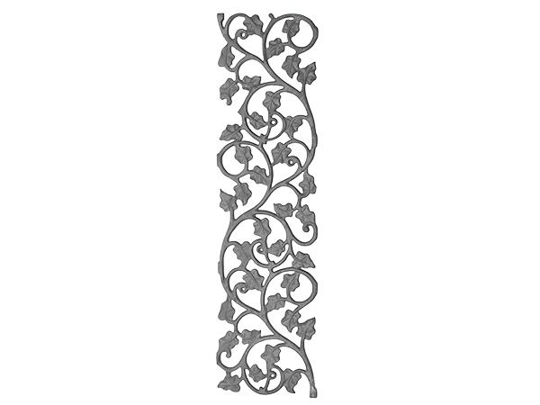 Cast iron ivy leaf panel