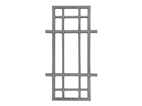 Cast iron modern rail casting, 17.5 x 9.5-inch