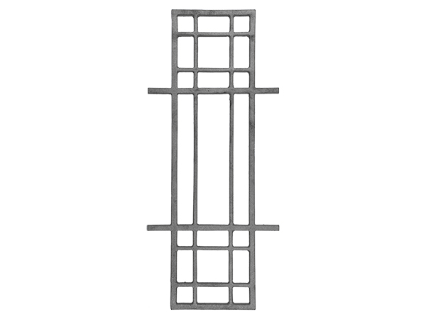 Cast iron modern rail casting 25 x 11 inch