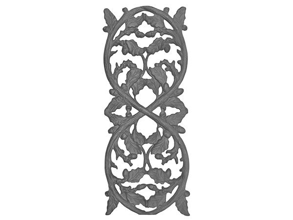 Cast iron oak railing casting medium
