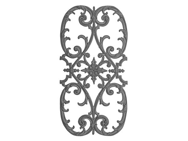 Cast iron olde victorian panel, 26 x 13.75-inch