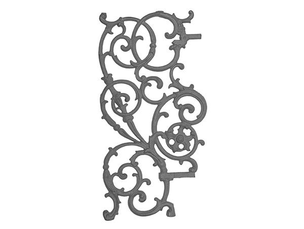 Cast iron pontabla panel, 3 piece left