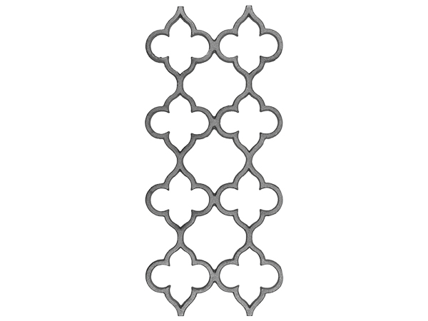 Cast iron railing casting, 21.5 x 9.5-inch