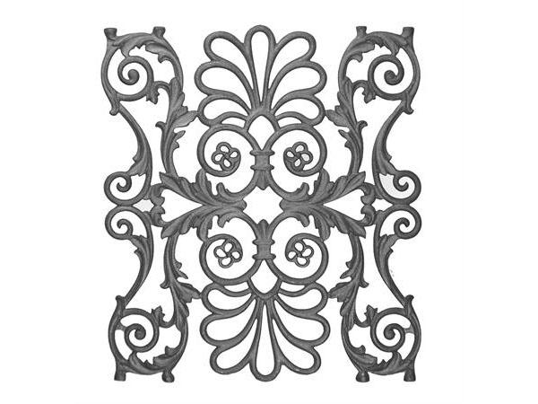 Cast iron railing casting, 21 x 18.5-inch