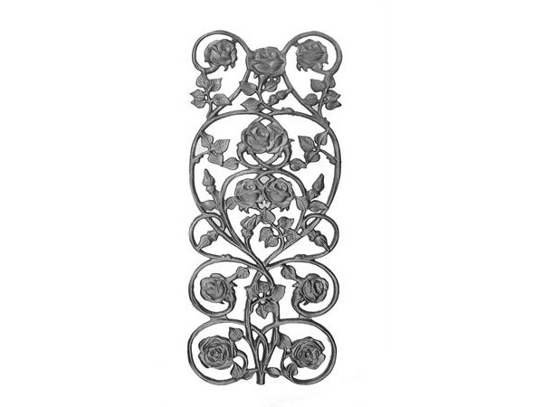 Cast iron rose rail casting