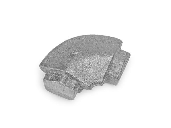 Cast iron round corner