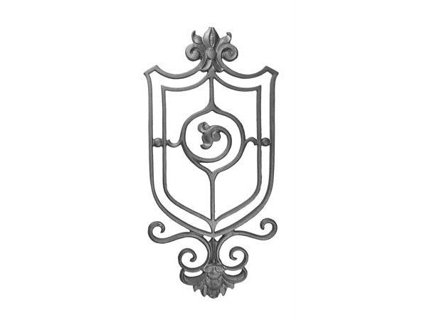 Cast iron royal crest railing casting