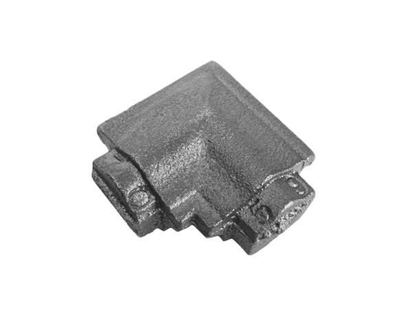 Cast iron square corner