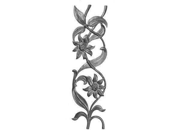 Cast iron sunflower rail casting