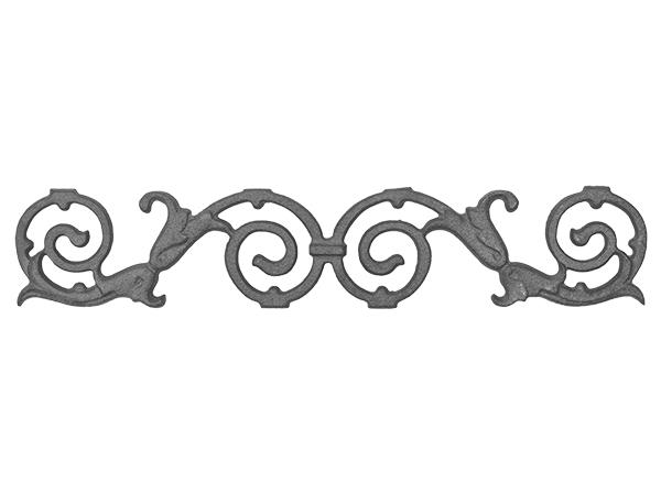 Cast iron valance 4x21.5-inch