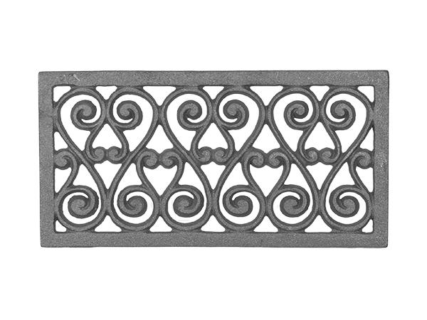 Cast iron vent facade