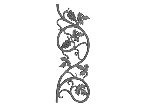 Cast iron vineyard casting, 22x7.5-inch