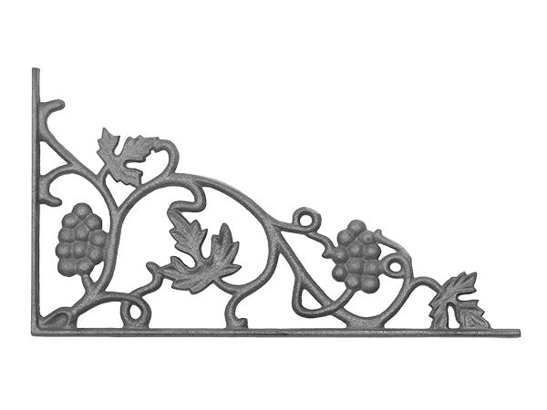Cast iron vineyard corner bracket