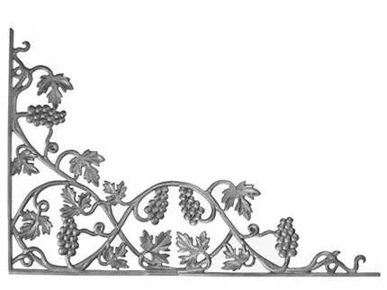 Cast iron vineyard corner casting flange with no holes