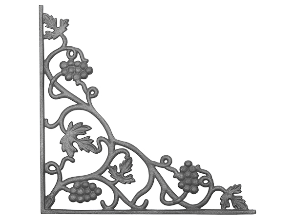 Cast iron vineyard corner casting flange with holes