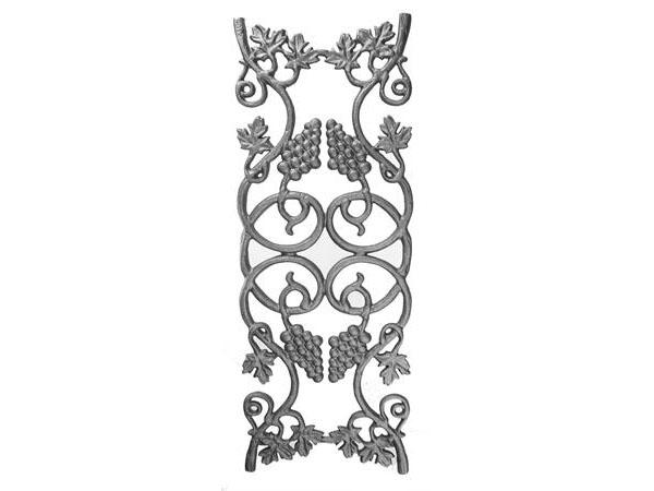 Cast iron vineyard railing panel