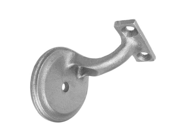 Malleable handrail bracket flat