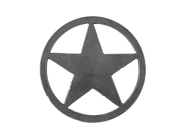 Plasma cut circle star
