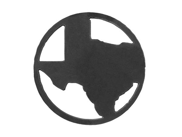 Plasma cut circle Texas